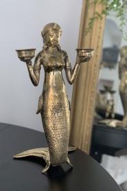 Little Soho Living | Kandelaar Mermaid | goud  | Afbeelding 2