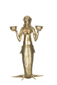 Little Soho Living |  Mermaid candle holder | gold  | Picture 1