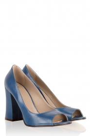 Leather pump Nicla | blue