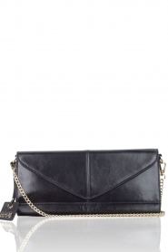 Leather clutch Nia | black