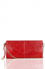 Leather clutch Nia | red
