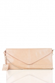 Leather clutch Nia | nude