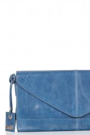 Leather clutch Nia | blue