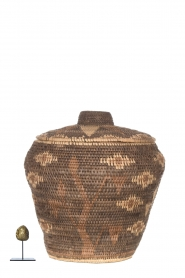 Little Soho Living |  Printed rattan basket Lizzy - medium | brown  | Picture 3