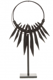 Little Soho Living |  Cuttlefish necklace on a stand Fay | black  | Picture 1
