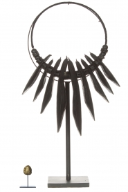 Little Soho Living |  Cuttlefish necklace on a stand Fay | black  | Picture 4