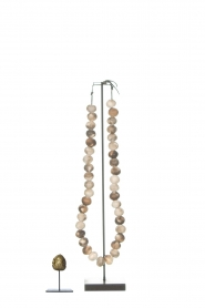 Little Soho Living |  Wooden bead necklace on a stand Austin | brown  | Picture 4