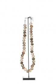 Little Soho Living |  Wooden bead necklace on a stand Austin | brown