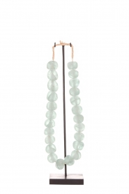 Little Soho Living |  Glass bead necklace on a stand Chloe | green  | Picture 1