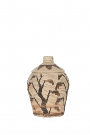 Little Soho Living |  Printed rattan basket Jelisa - small | camel  | Picture 1