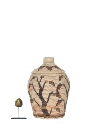 Little Soho Living |  Printed rattan basket Jelisa - small | camel  | Picture 3