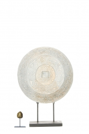 Little Soho Living |  Round ornament on a stand Kean | white  | Picture 3