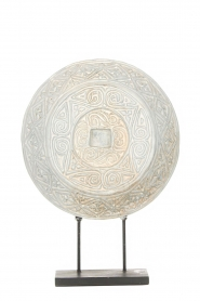 Little Soho Living |  Round ornament on a stand Kean | white  | Picture 2