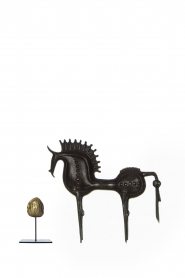 Little Soho Living |  Troyan horse Aidan - large | black  | Picture 3