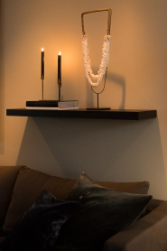 Little Soho Living |  Shell necklace on a stand Zoe | white  | Picture 2