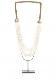 Little Soho Living |  Shell necklace on a stand Zoe | white  | Picture 1