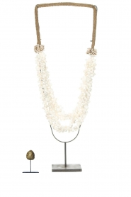 Little Soho Living |  Shell necklace on a stand Zoe | white  | Picture 3
