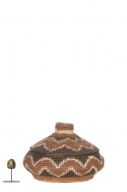 Little Soho Living |  Printed rattan basket Norah - small | brown  | Picture 3
