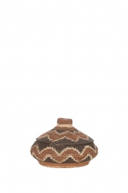 Little Soho Living |  Printed rattan basket Norah - small | brown  | Picture 1