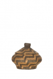 Little Soho Living |  Printed rattan basket Grace - small | brown  | Picture 1