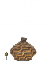 Little Soho Living |  Printed rattan basket Grace - small | brown  | Picture 3