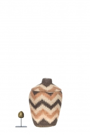 Little Soho Living |  Zigzag printed rattan basket Daisy - small | multi  | Picture 3