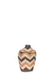 Little Soho Living |  Zigzag printed rattan basket Daisy - small | multi  | Picture 1