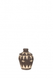 Little Soho Living |  Printed rattan basket Jamie - small | black & white  | Picture 2