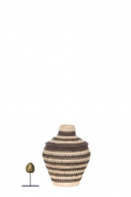 Little Soho Living |  Striped rattan basket Charlie - small | black & white  | Picture 3