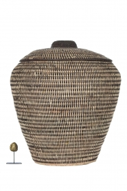 Little Soho Living |  Striped rattan basket Megan - extra large | black & white  | Picture 4