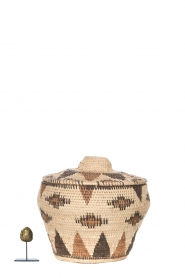 Little Soho Living |  Printed rattan basket Abbey - small | natural  | Picture 3