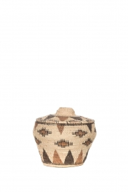 Little Soho Living |  Printed rattan basket Abbey - small | natural  | Picture 1