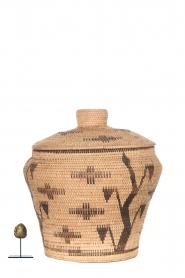 Little Soho Living |  Printed rattan basket Hope - large | camel  | Picture 3