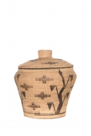 Little Soho Living |  Printed rattan basket Hope - large | camel  | Picture 1