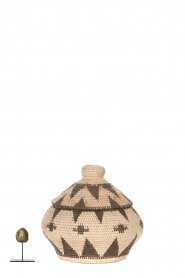 Little Soho Living |  Printed rattan basket Jill - small | natural  | Picture 4