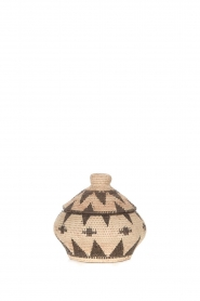 Little Soho Living |  Printed rattan basket Jill - small | natural  | Picture 1