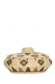 Little Soho Living |  Printed rattan basket Faye - low | natural  | Picture 1