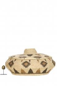 Little Soho Living |  Printed rattan basket Faye - low | natural  | Picture 3