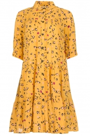 Melt |  Dress with leopard print Lune | yellow  | Picture 1