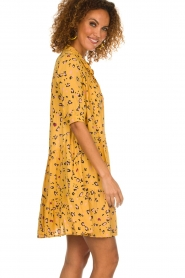 Melt |  Dress with leopard print Lune | yellow  | Picture 4