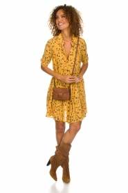 Melt |  Dress with leopard print Lune | yellow  | Picture 3