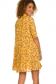 Melt |  Dress with leopard print Lune | yellow  | Picture 5