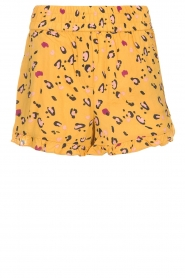 Melt |  Short with print Leopard | yellow  | Picture 1