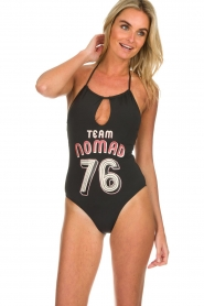 Melt |  Swimsuit with print Nomad | black  | Picture 2