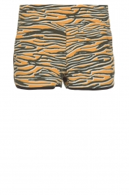 Melt |  Sportive short with zebra print Amber | animal print  | Picture 1
