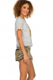Melt |  Sportive short with zebra print Amber | animal print  | Picture 5