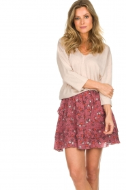 Melt | Rok met ruches Lilly | roze  | Afbeelding 2