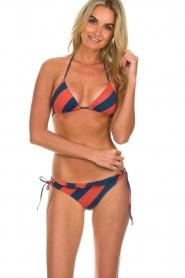 Melt | Bikini top met streepjes print Bold | multi  | Afbeelding 2