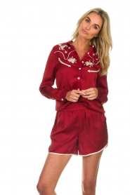 Melt |  Blouse with embroidery Hot Sauce | red  | Picture 4