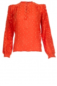 Munthe |  Blouse with dots Annie | orange